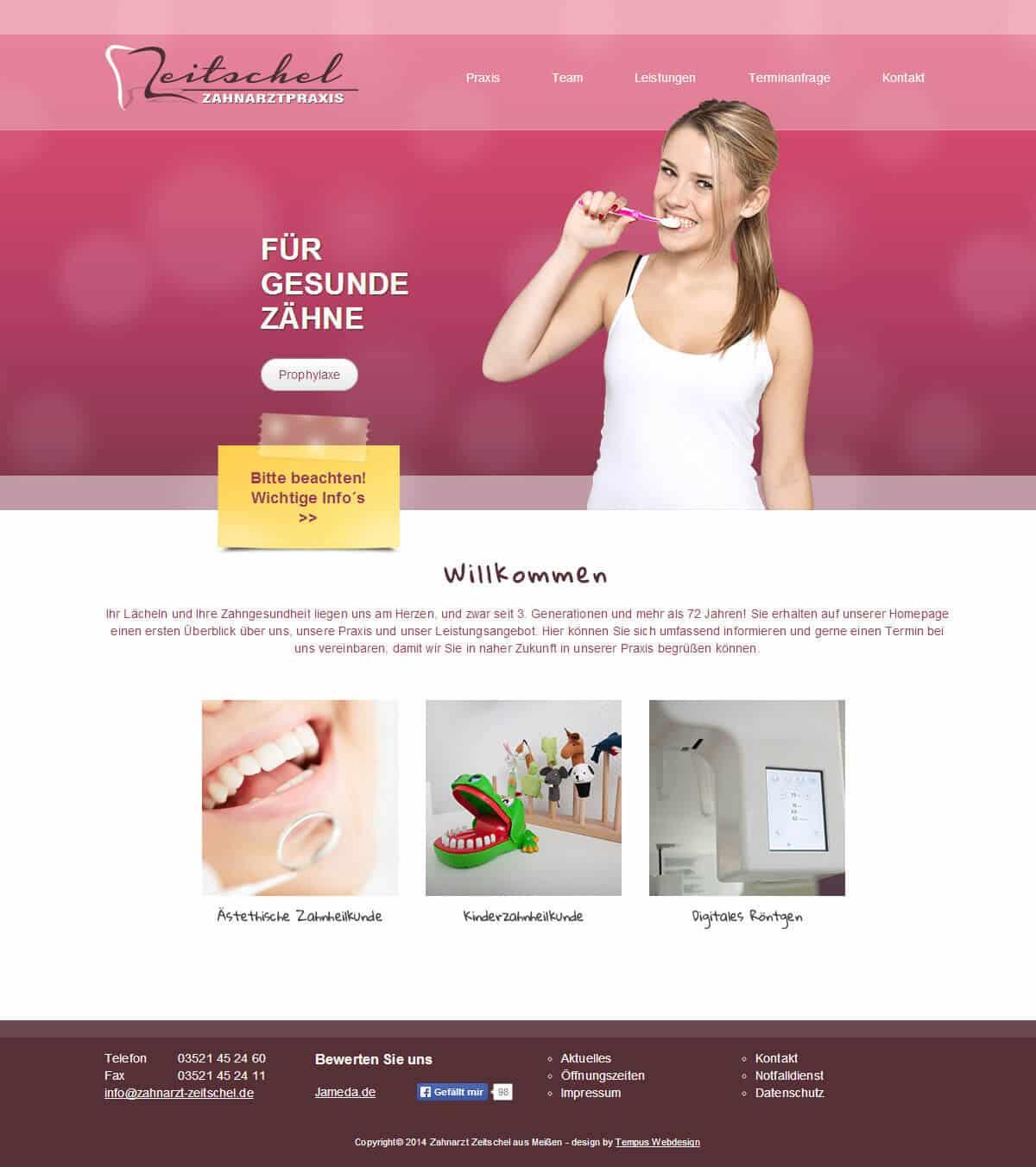 Portfolio Zahnarzt Zeitschel