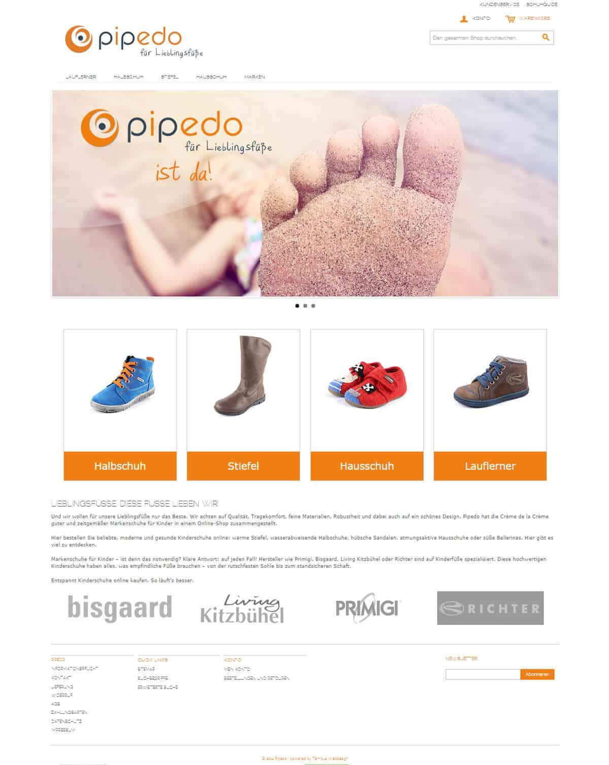 Pipedo - für Lieblingsfüße